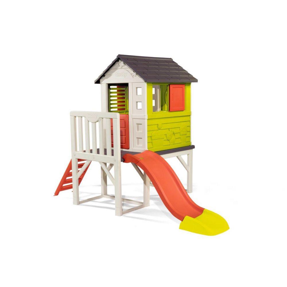 Maison Pilotis 260X160X197 Cm tout Maison Jardin Smoby
