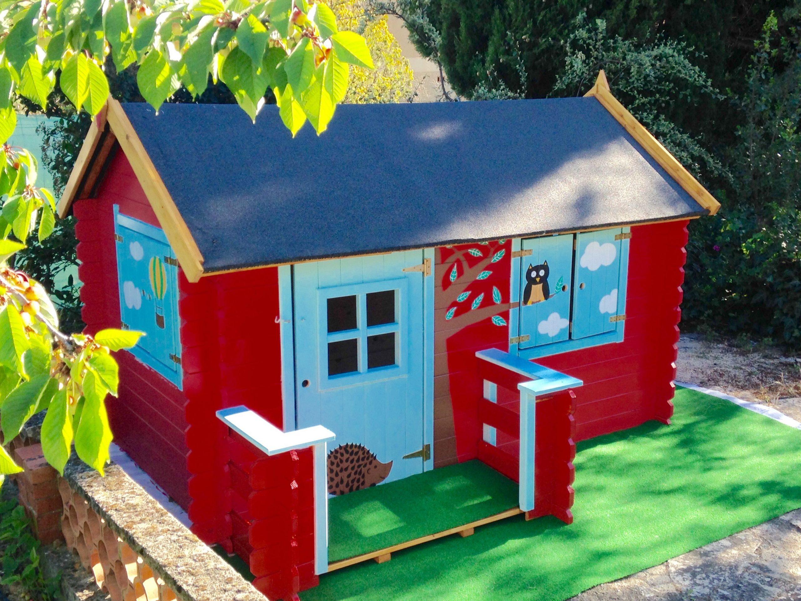Maisonnette Bois Camille | Maisonnette Bois Enfant ... dedans Cabane De Jardin Enfant Pas Cher
