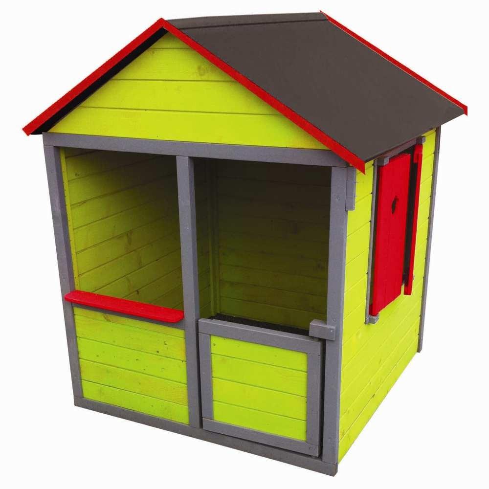 Maisonnette Bois Verte H130 Cm pour Maison De Jardin Jouet