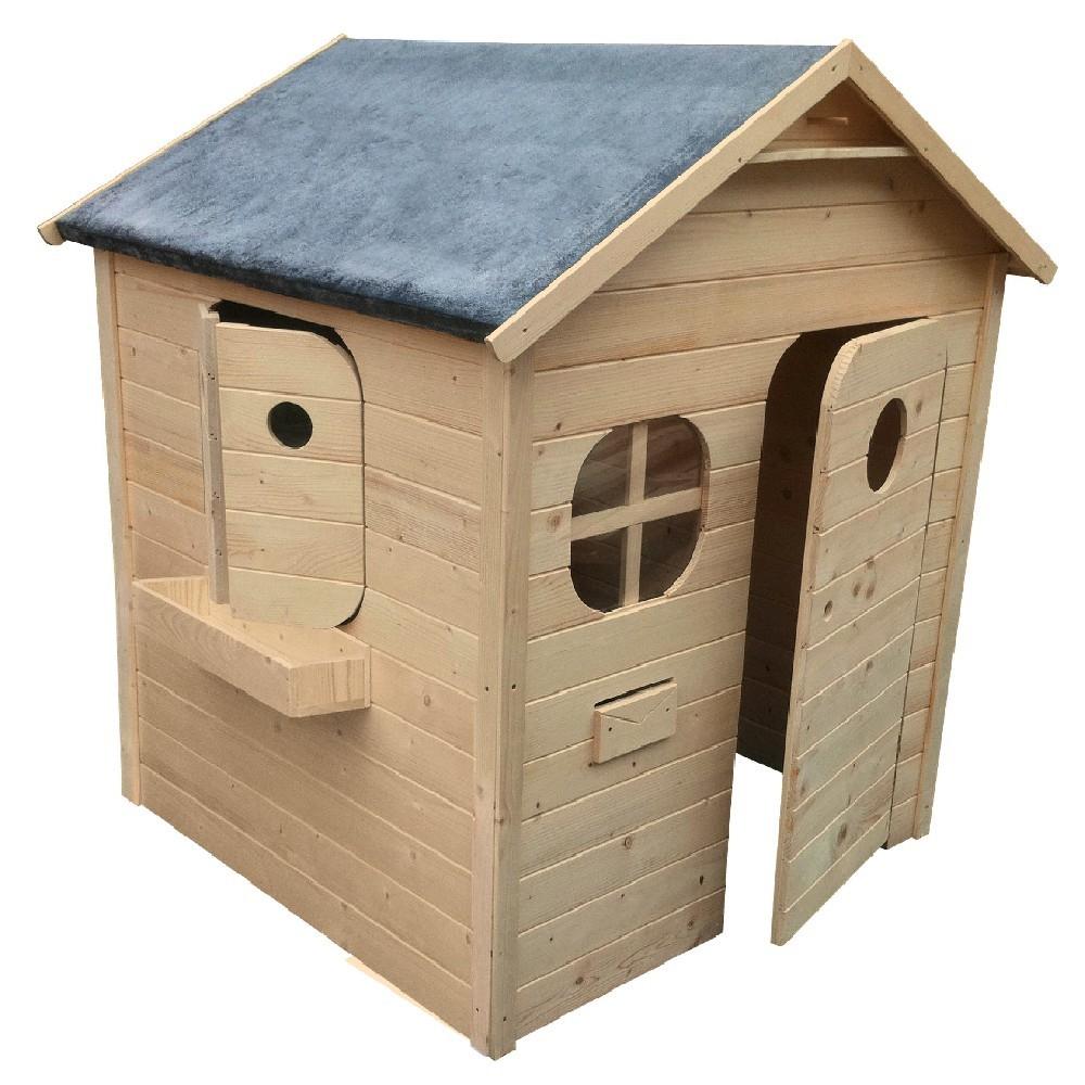 Maisonnette Châlet En Bois À Peindre Ou Lasurer destiné Cabane De Jardin Enfant Bois