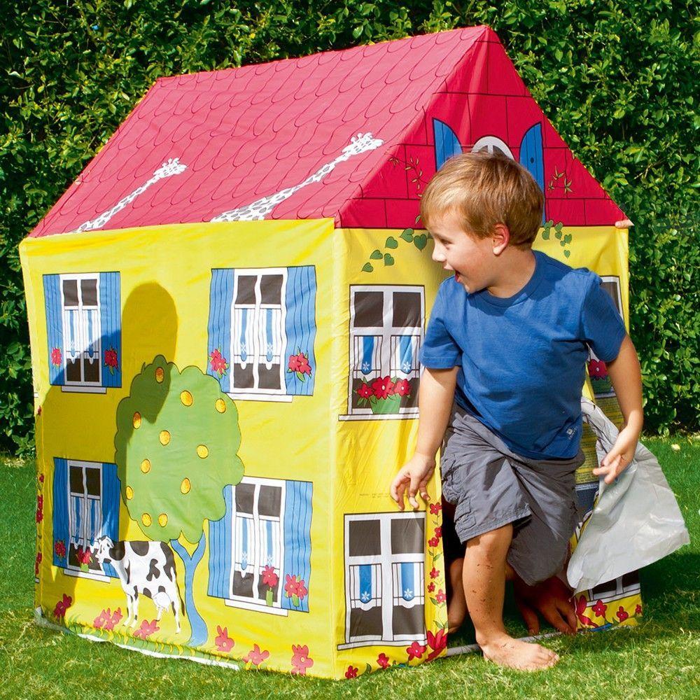 Maisonnette De Jeu En Toile Pour Enfant Jardin Maison Jouet Amusement 52007 pour Maison De Jardin Jouet