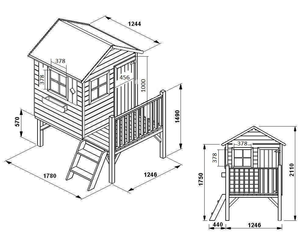 Maisonnette En Bois Alix | Maisonnette En Bois, Plan Cabane ... avec Cabane De Jardin Enfant Pas Cher