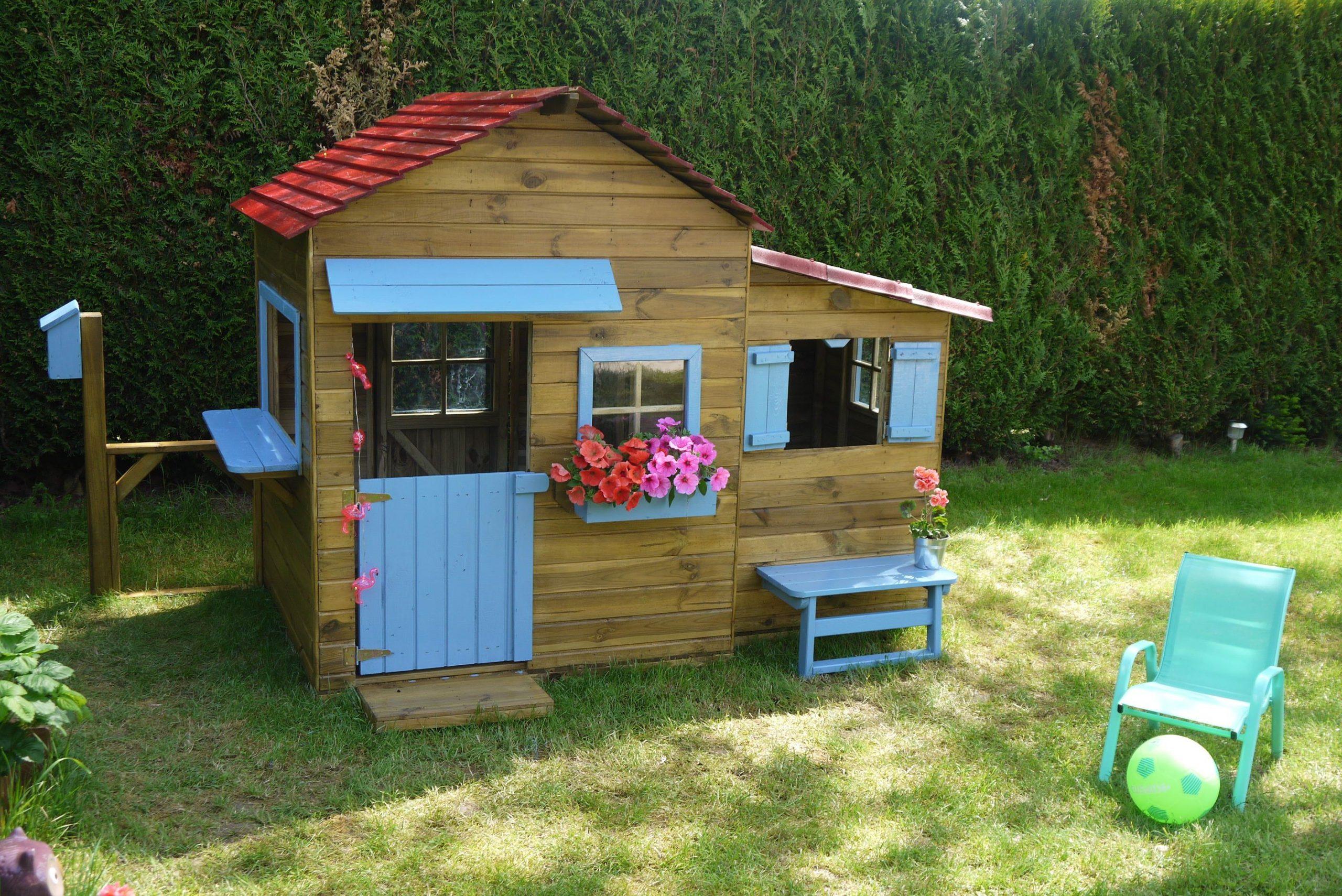 Maisonnette En Bois Family   Maisonnette En Bois ... concernant Cabanne Jardin Enfant