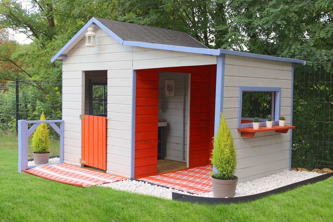Maisonnette En Bois Gaby En 2020 | Maisonnette En Bois ... tout Cabane De Jardin Enfant Pas Cher