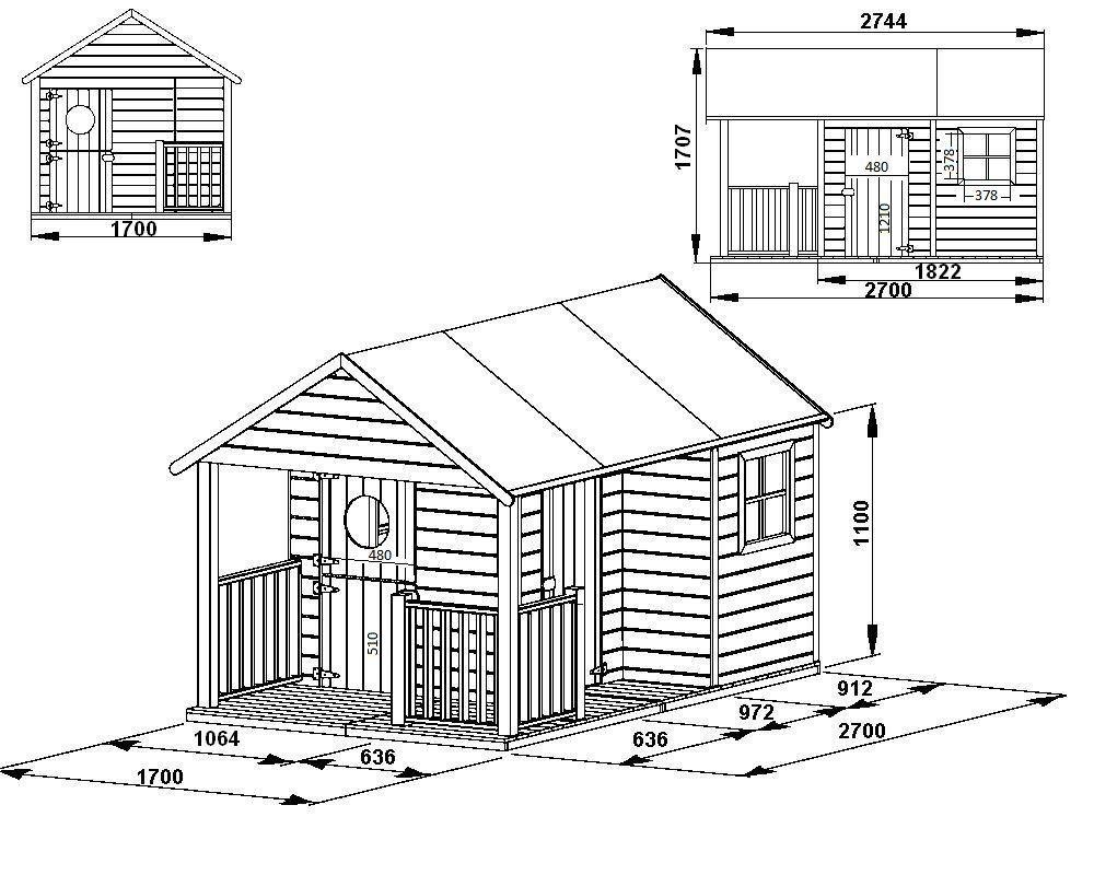 Maisonnette En Bois Inès | Maisonnette En Bois, Cabane Bois ... pour Abri Jardin Oogarden