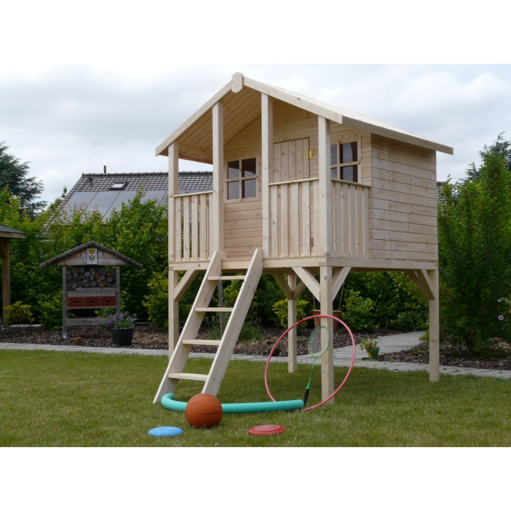 Maisonnette Pour Enfants Solid Traditionnelle Sur Pilotis Hauteur 2,81M serapportantà Maisonette Enfant Jardin