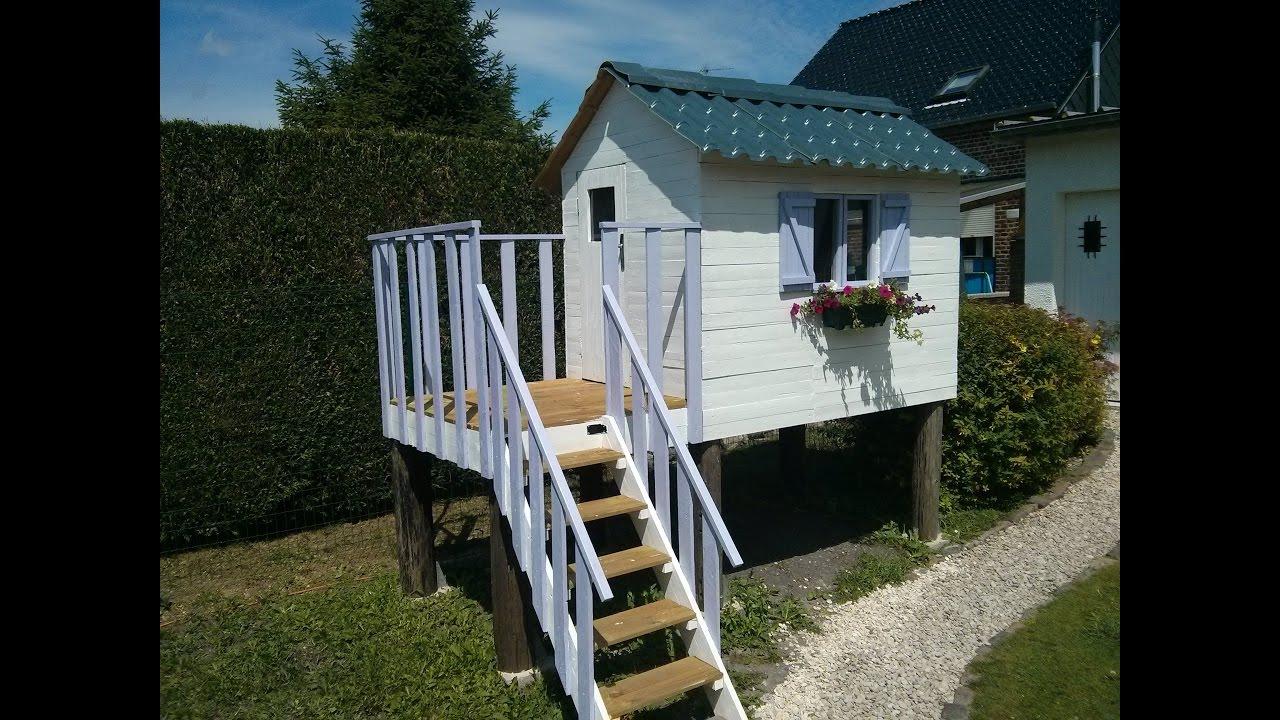 Make A Children's Log Cabin With Pallets à Cabane De Jardin Enfant Bois