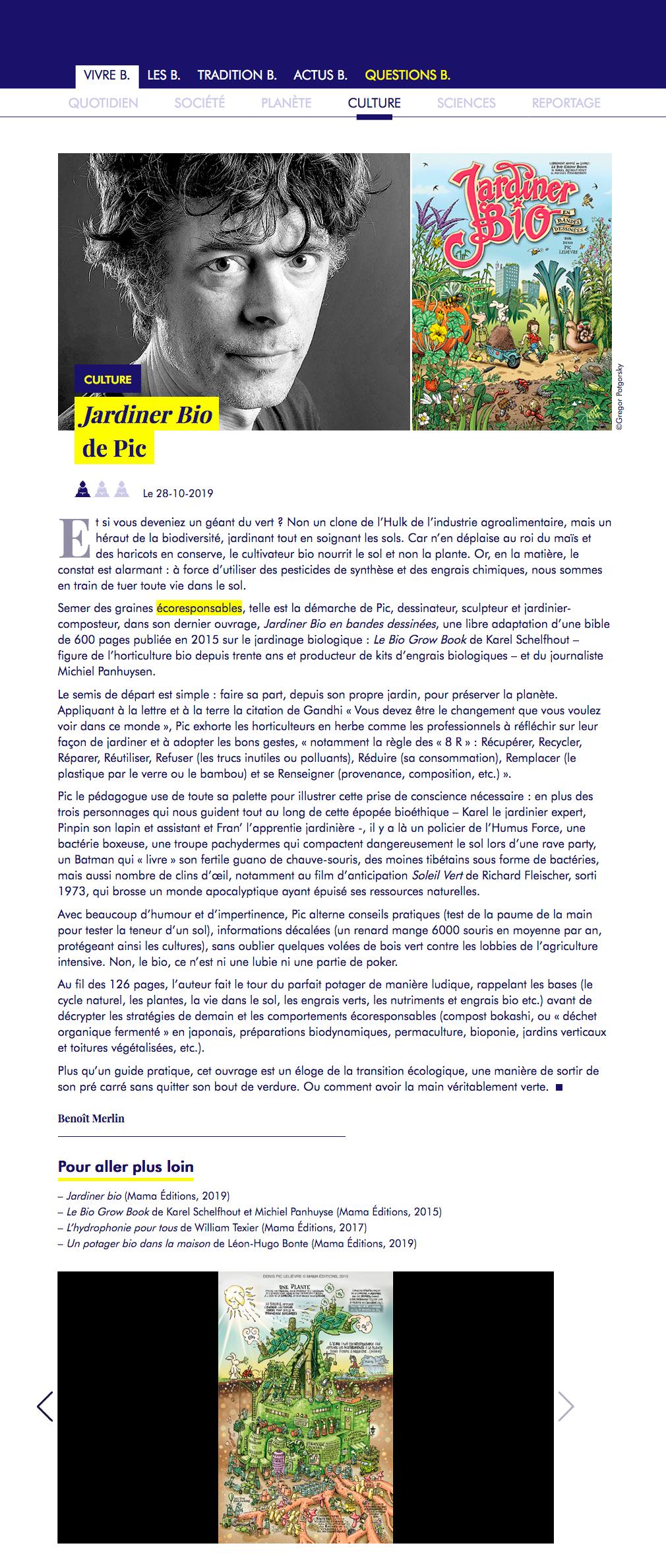 Mama Publishing | Author: Denis Pic Lelièvre pour Jardiner Bio Magazine
