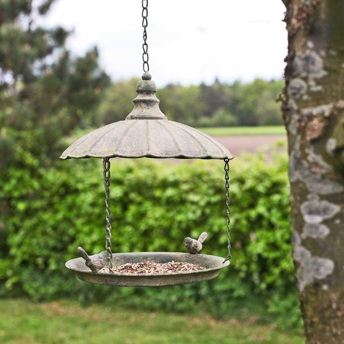 Mangeoire Oiseau À Suspendre Vintage avec Baignoire Oiseaux Jardin