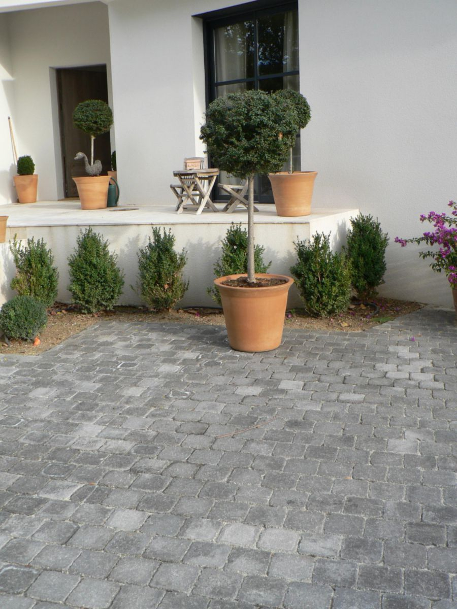 Marlux (Alkern) - Pavé Carrossable Duo - Gris Granit Aspect ... intérieur Point P Bordures De Jardin