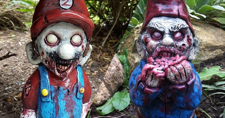 Marre Des Gens Qui Abîment Votre Pelouse ? Ces Nains Zombies ... concernant Nain De Jardin Zombie