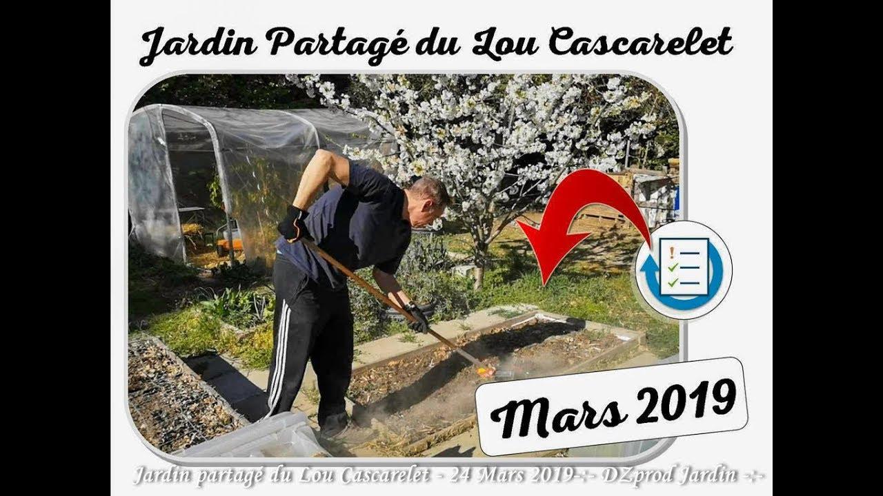 Mars 2019 Au Jardin Partagé Du Lou Cascarelet - Dzprod Jardin pour Jarre De Jardin