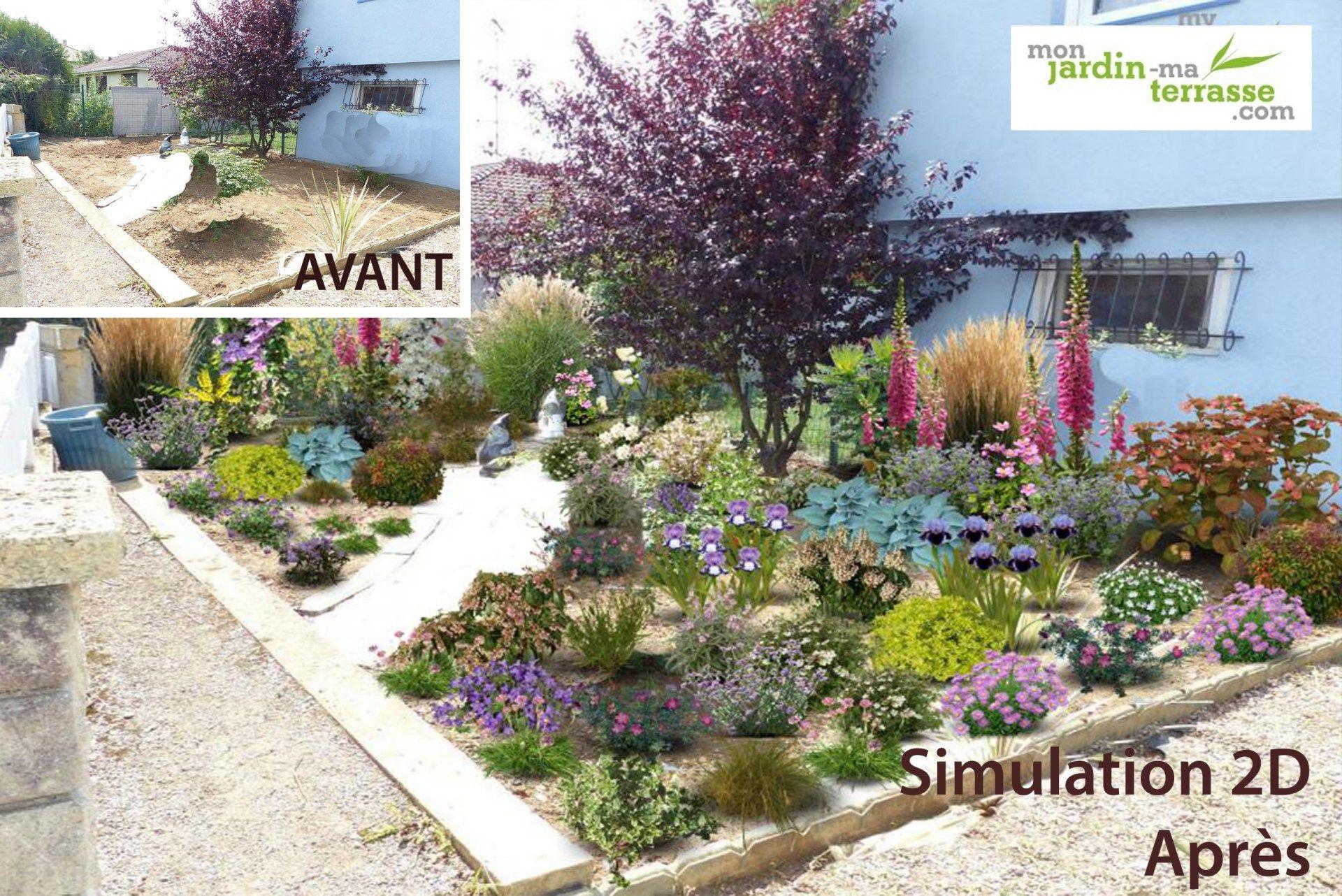 Massif De Plantes | Monjardin-Materrasse | Plants, Garden serapportantà Logiciel Amenagement Jardin