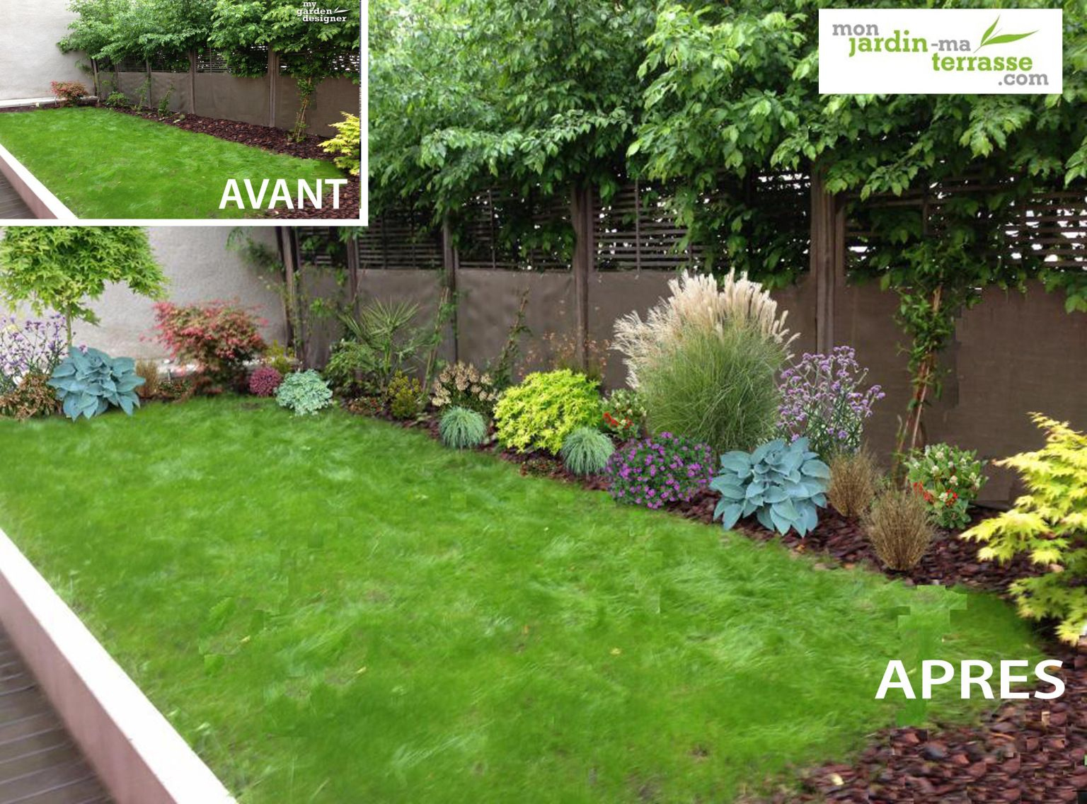 Massif Ombre Mur   Amenagement Jardin, Jardins pour Comment Aménager Son Jardin Devant La Maison