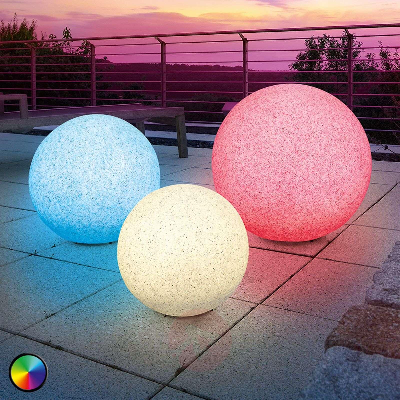 Mega Stone - Boule Lumineuse Solaire Led Moderne | Luminaire.fr à Boule Lumineuse Jardin
