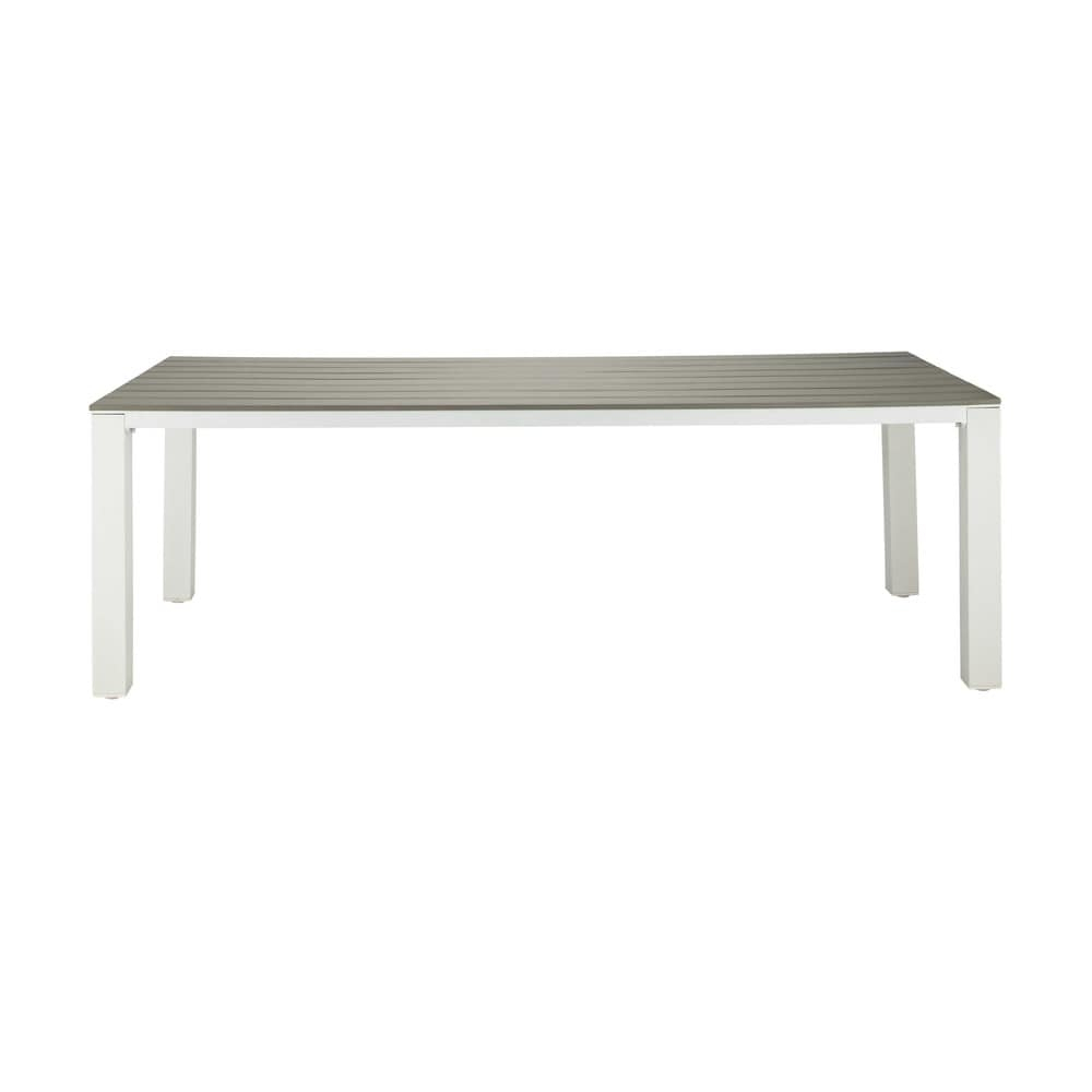 Mesa De Jardín 8/10 Personas De Aluminio Y Composite L.230 ... pour Table De Jardin Aluminium Et Composite