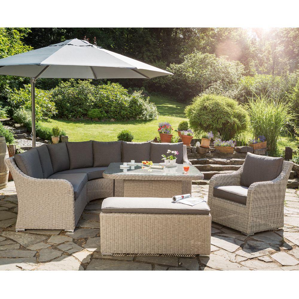 Meuble Jardin Extérieur Jardin En Rotin Meubles Ensemble 4 ... concernant Salon De Jardin En Teck En Promotion