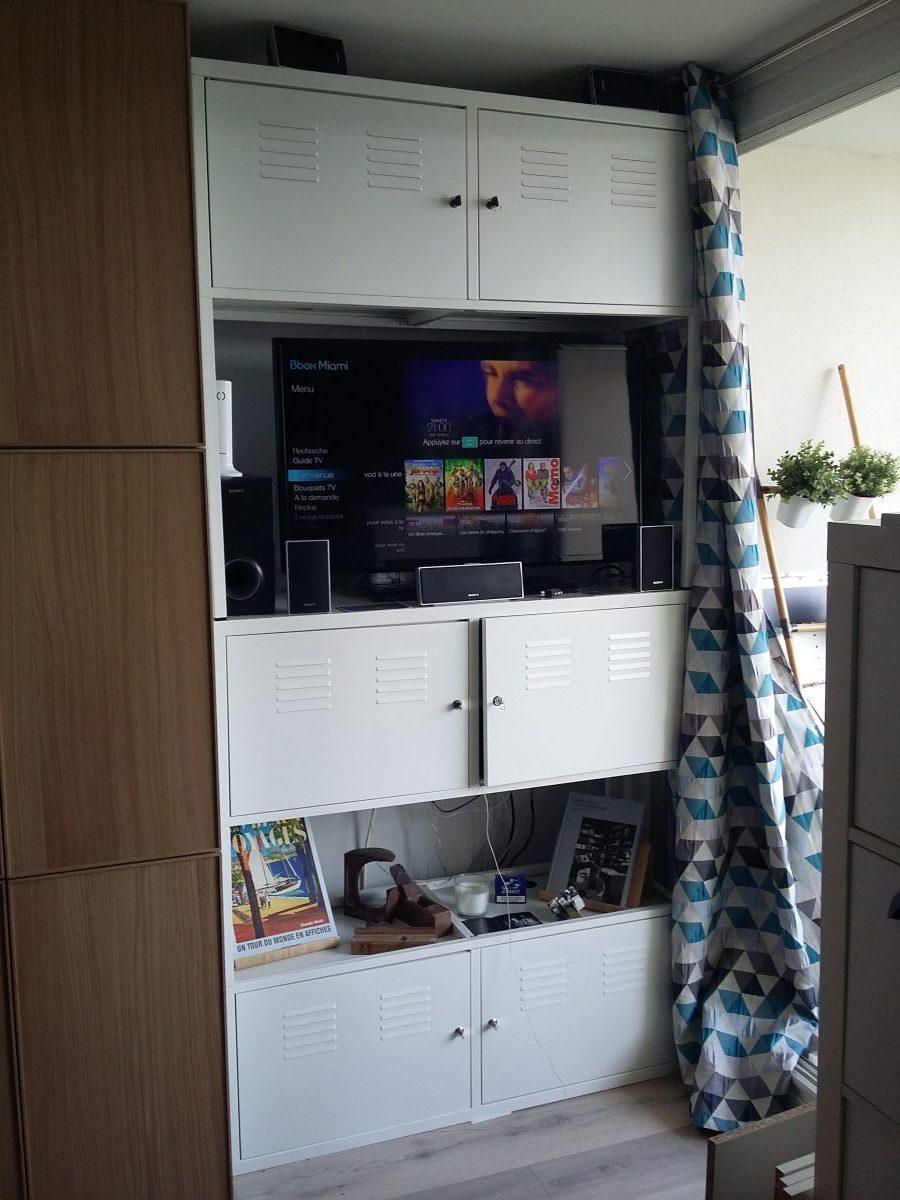 Meuble Tv Industriel concernant Armoire De Jardin Ikea