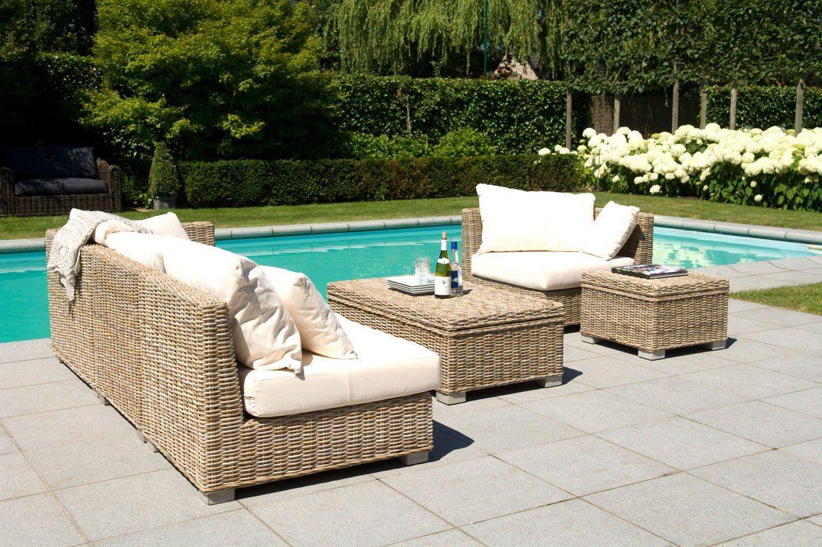 Meubles De Jardin Salon De Jardin Blanc Canape De Jardin En ... serapportantà Salon De Jardin Résine Tressée Amazon