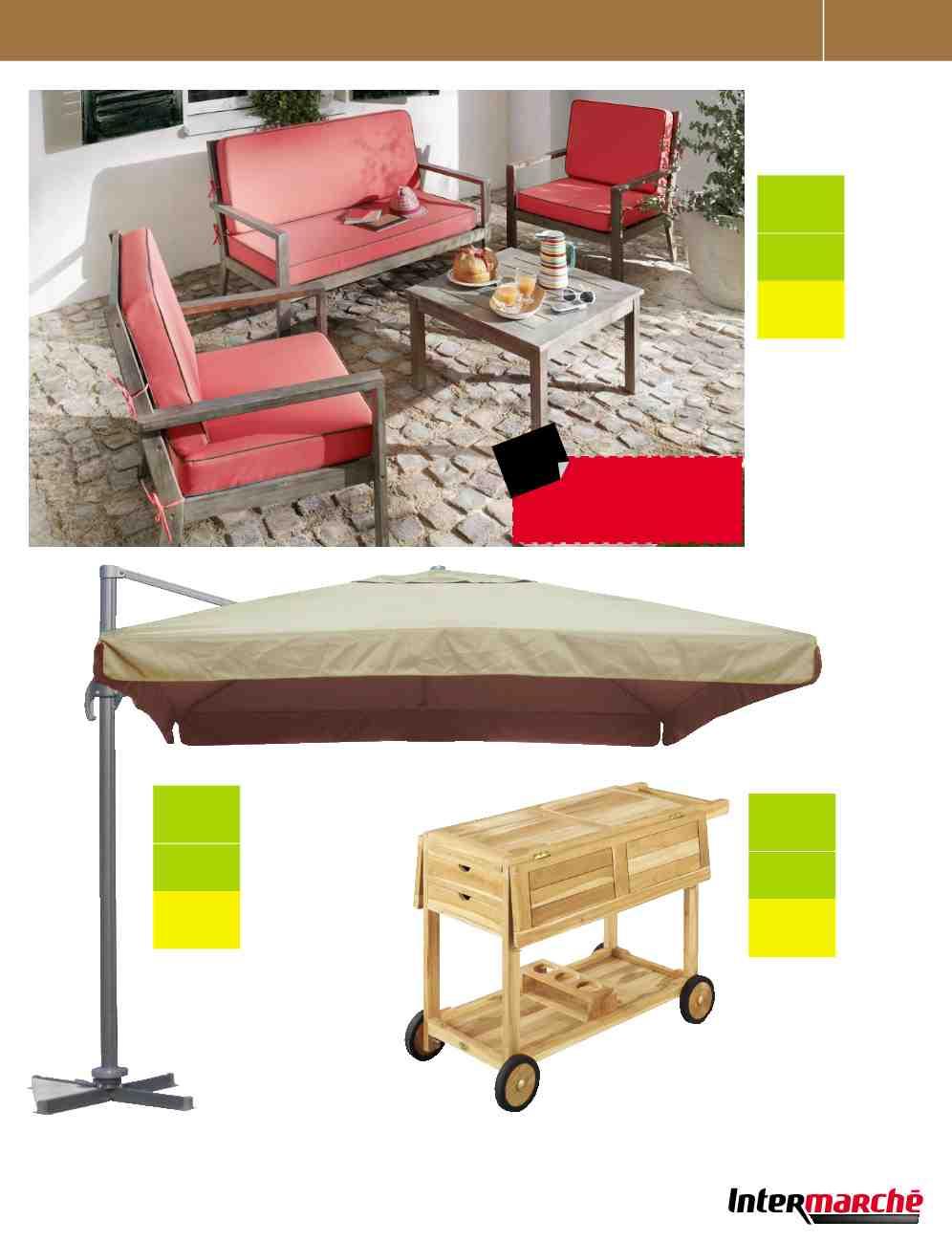 Meubles Jardin Barbecue Piscine Intermarche Catalogue 25 ... pour Intermarché Table De Jardin