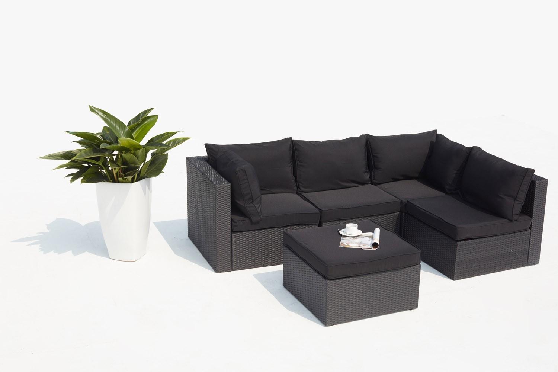 Milano Noir destiné Destockage Mobilier De Jardin