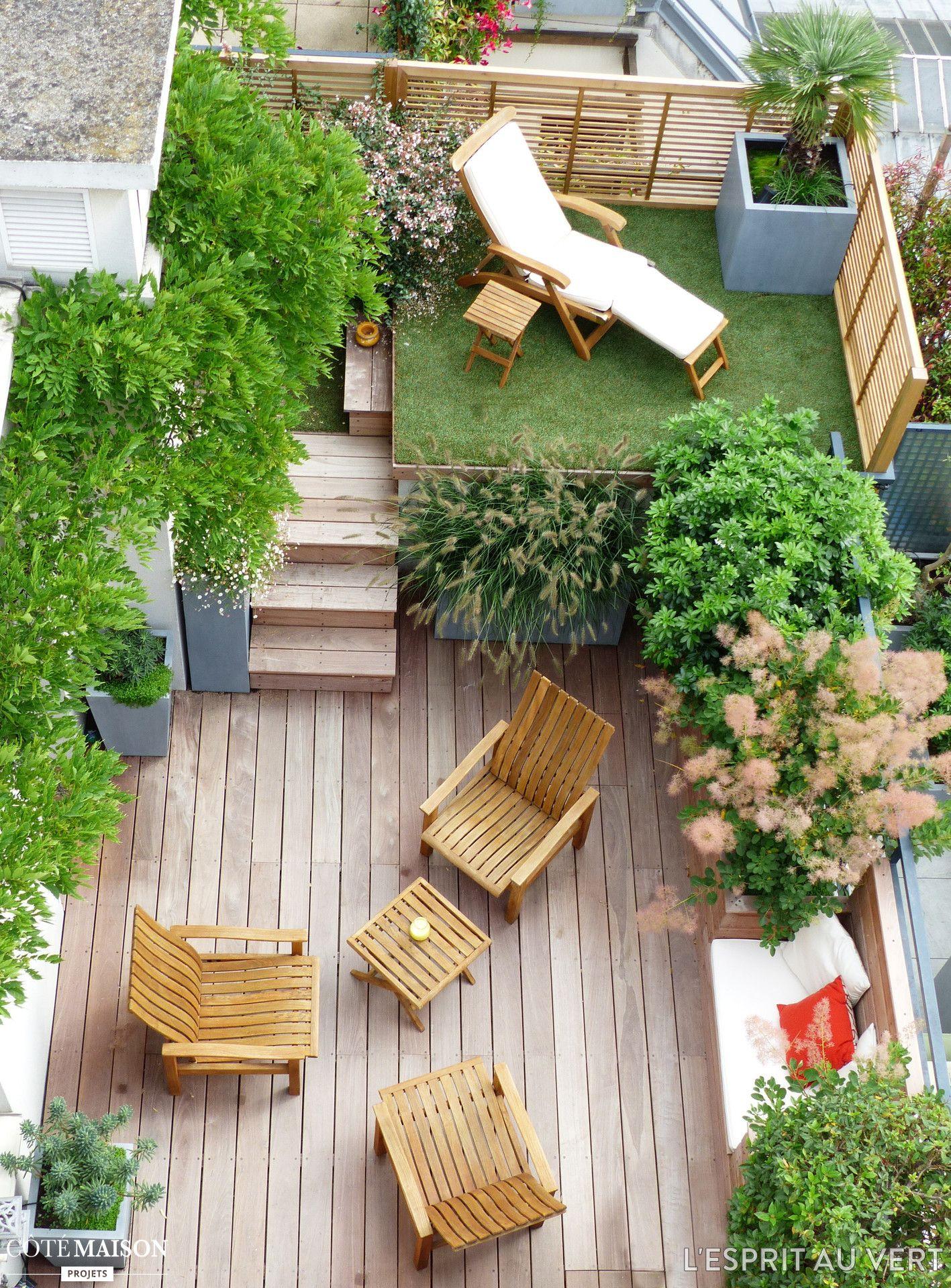 Mini Deck | Petits Jardins, Amenagement Jardin Et Aménager ... intérieur Aménagement D Un Petit Jardin De Ville