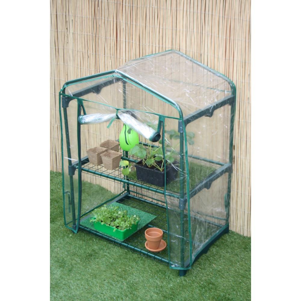 Mini-Serre Balcon Ideal Garden 2 Étagères destiné Mini Serres De Jardin