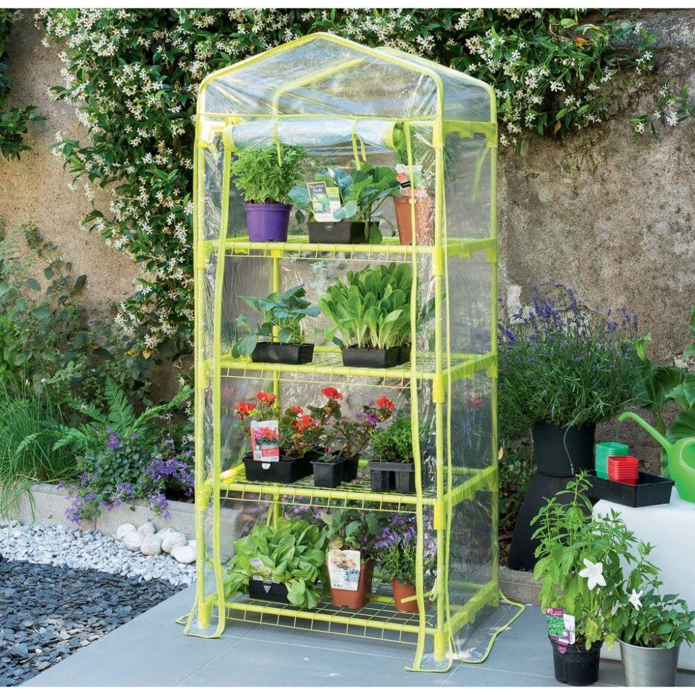 Mini-Serre De Balcon Ou Terrasse 'balcony 4' Anis 0.35 M² - Nortene serapportantà Mini Serres De Jardin