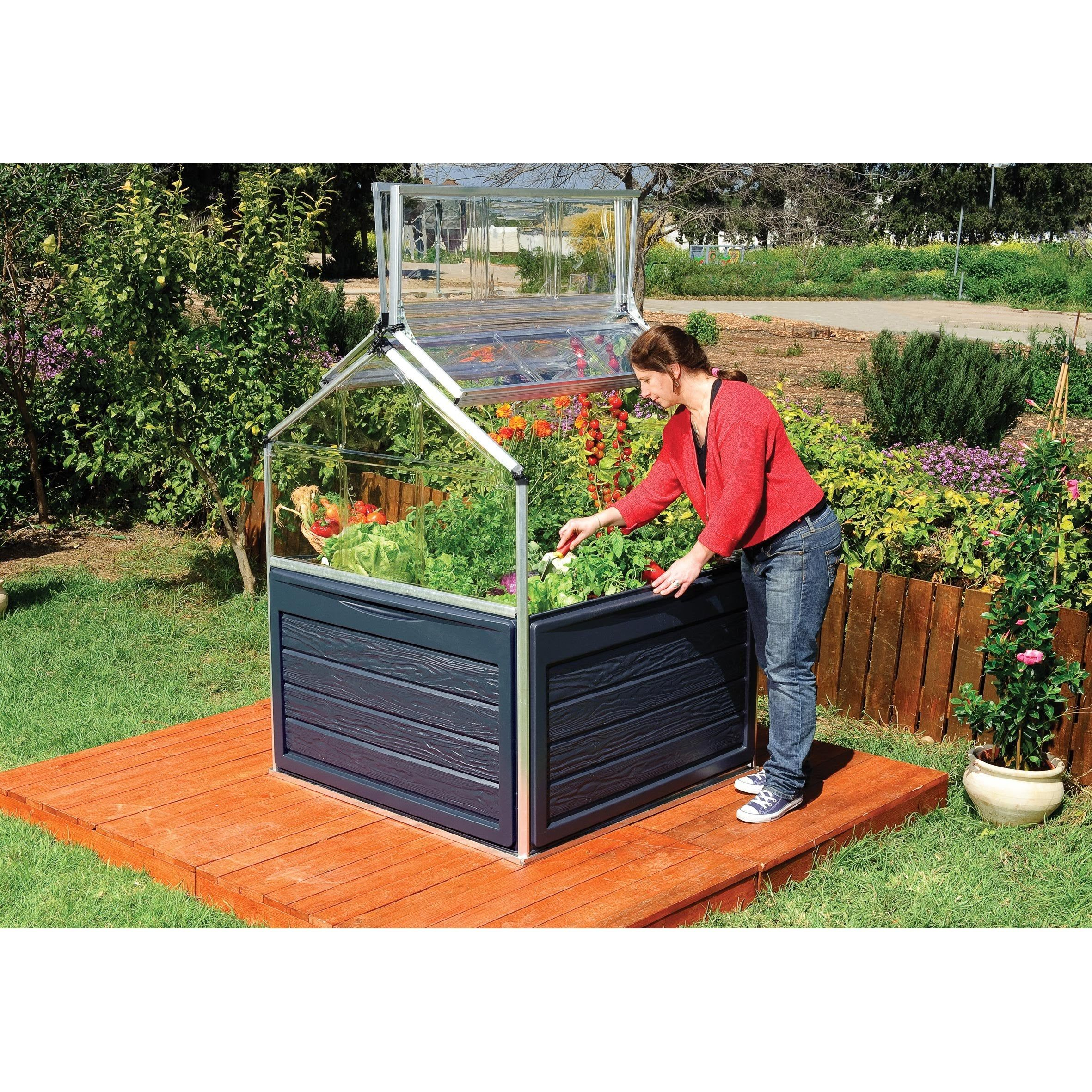 Mini Serre De Jardin Carré Potager Plant Inn 1.4 M² Palram ... tout Mini Serre De Jardin Pas Cher