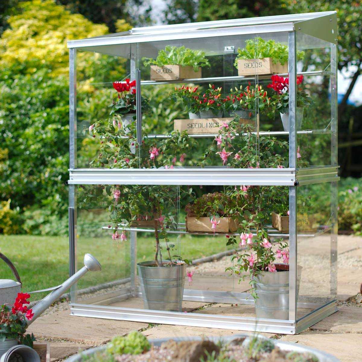 Mini Serre De Jardin En Verre Et Aluminium H.150Cm pour Serre De Jardin Adossée