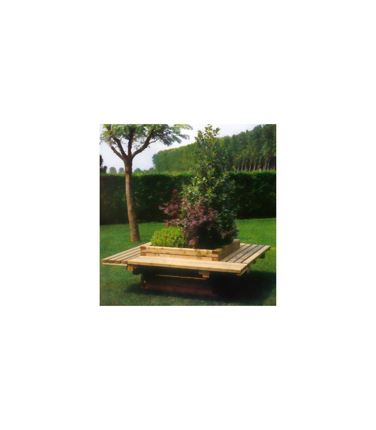 Mj010 Jardinière - Banc (Md) concernant Loveuse Jardin