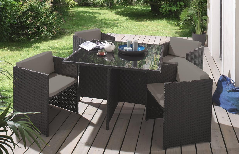 Mobilier De Jardin Andreas De Conforama destiné Table De Jardin Conforama
