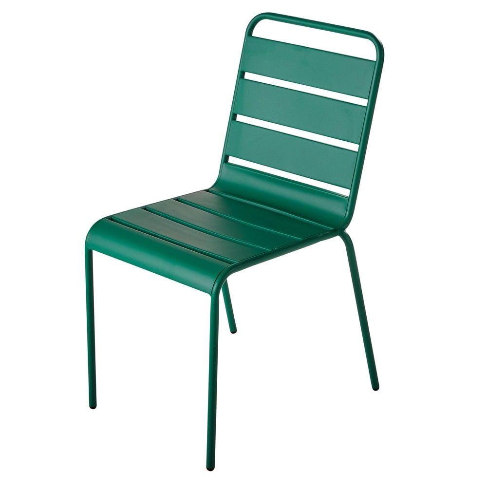 Mobilier De Jardin | Chaise Jardin Metal, Chaise Exterieur ... pour Chaise De Jardin Verte