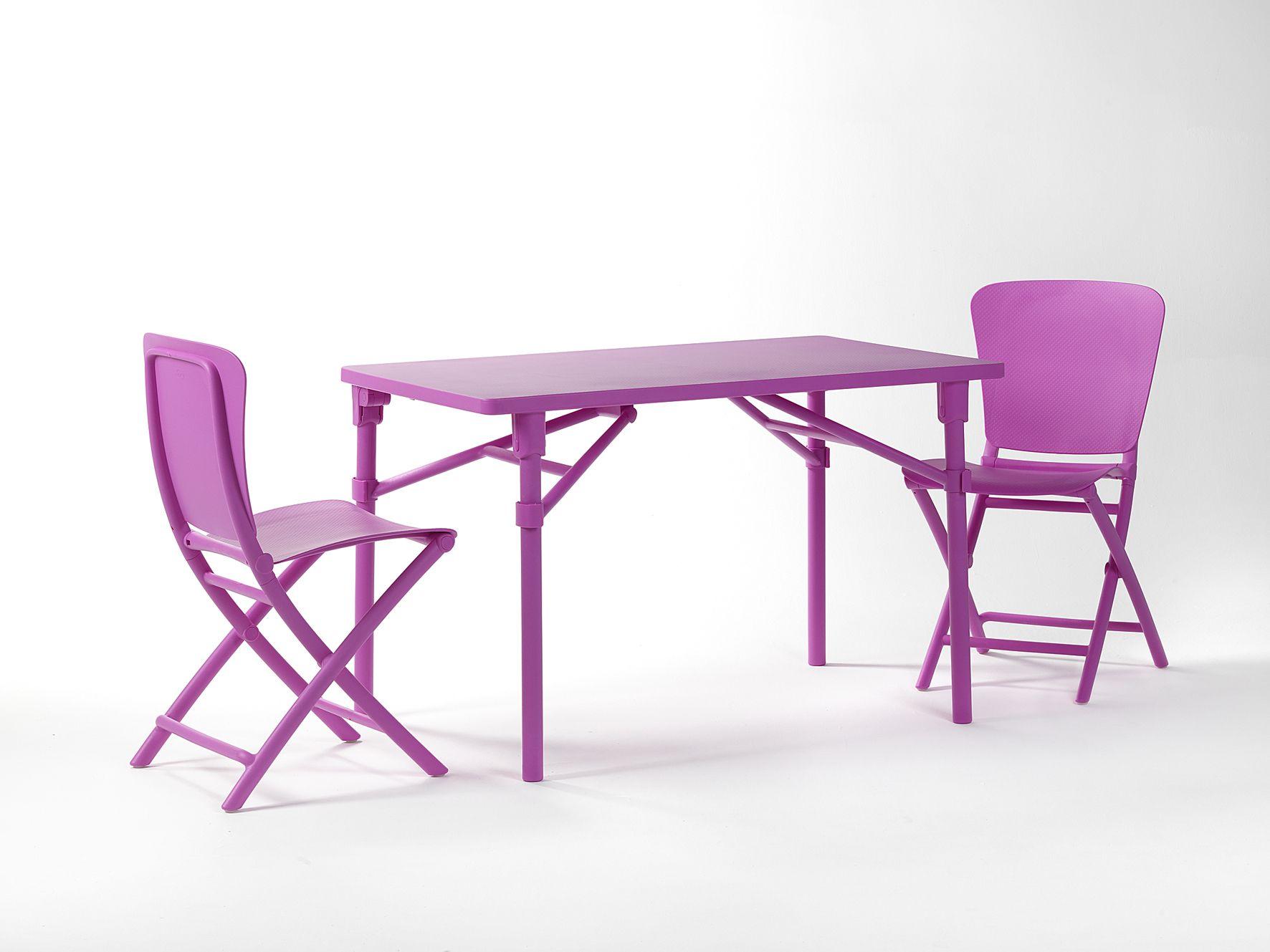 Mobilier De Jardin Nardi : L'ensemble Table Et Chaises ... pour Chaise Jardin Colorée