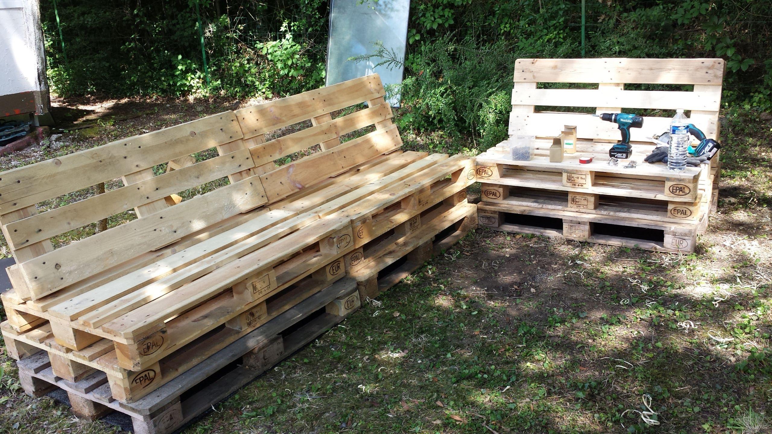 Mobilier Jardin Palette Mobilier De Jardin En Palette ... destiné Construire Son Abri De Jardin En Palette