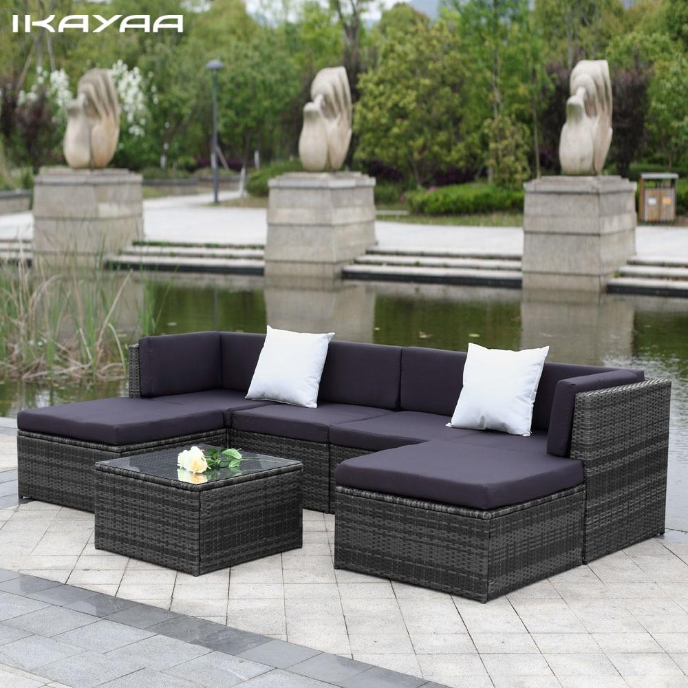 Mobilya'ten Bahçe Bankları'de Ikayaa Abd Stok Veranda Bahçe ... avec Bache Protection Salon De Jardin