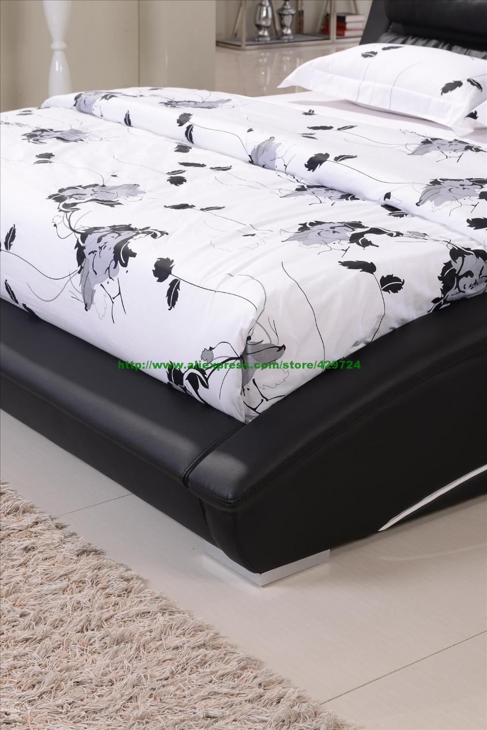 Mobilya'ten Yataklar'de Mobilya Yatak Odası Rahat Siyah Deri ... encequiconcerne Lit De Jardin Rond