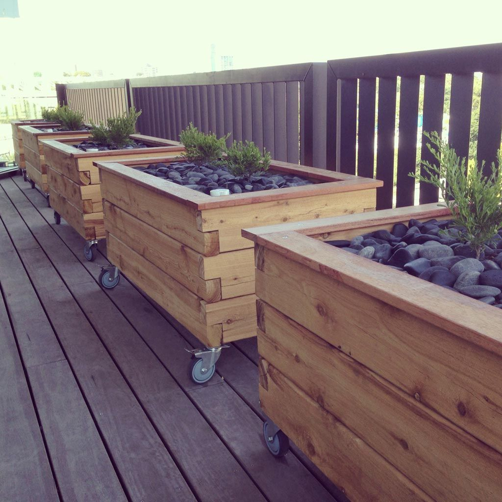 Modbox Grande On Wheels- Planter Box | Amenagement Jardin ... avec Bac De Jardin En Bois