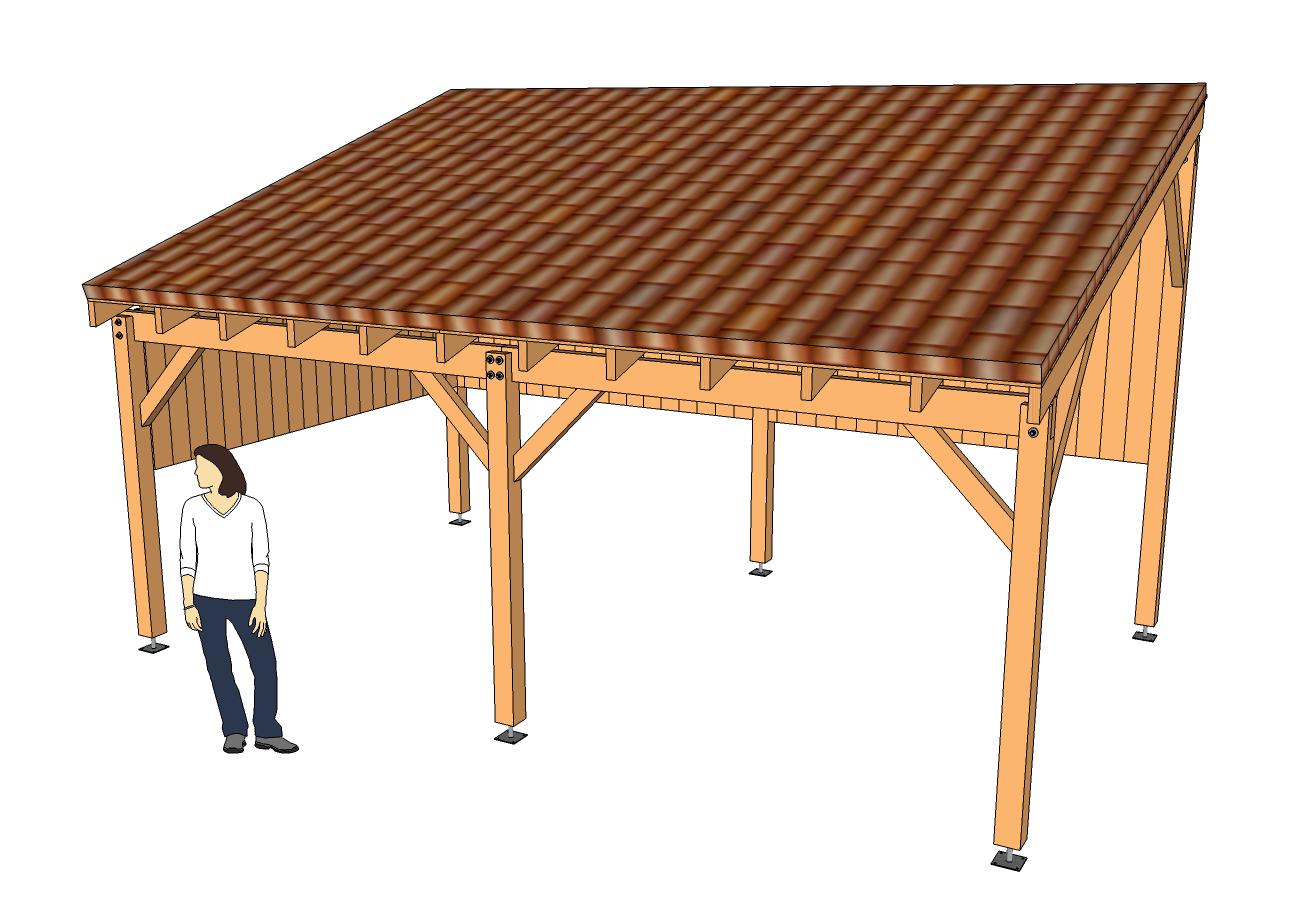 Modèle Eva - Guide De Construction Des Carport, Abri Voiture ... intérieur Fabriquer Un Abri De Jardin
