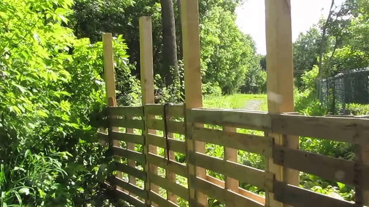 Mon Jardin Rona, Cloture En Palettes Avec S.lego pour Petite Barriere Jardin