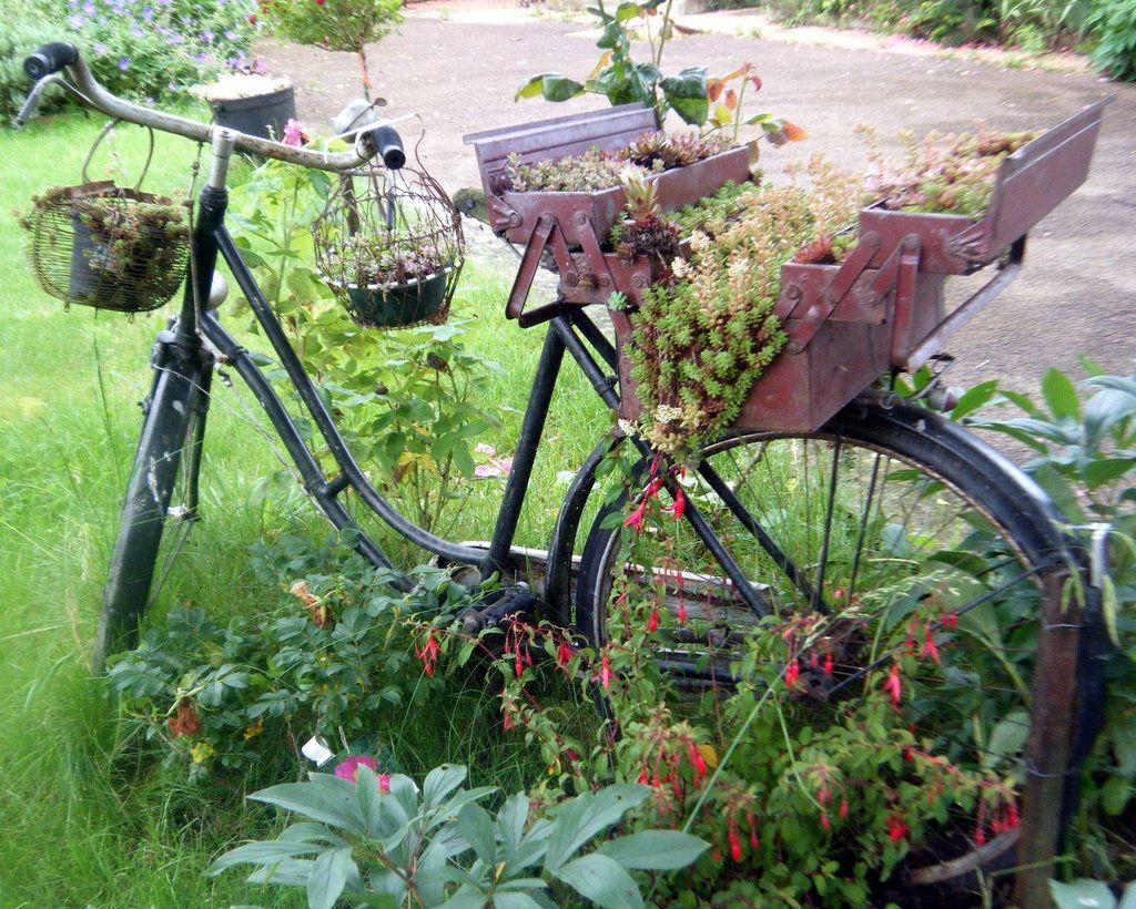 Mon Vieux Vélo Déco | Vieux Vélo, Idées Jardin, Déco Jardin dedans Velo Deco Jardin