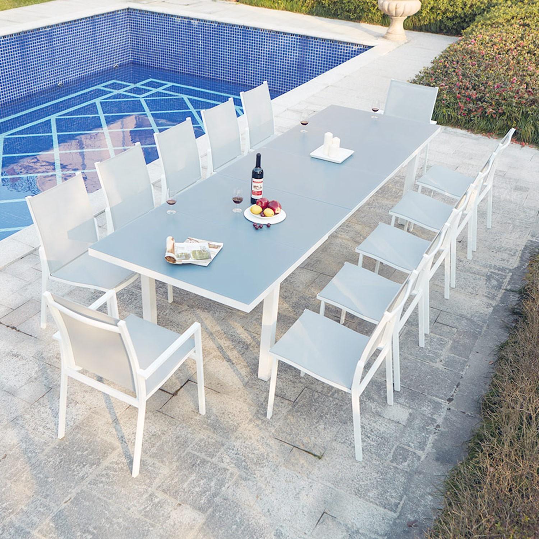 Moniga 12 encequiconcerne Table De Jardin Extensible Pas Cher