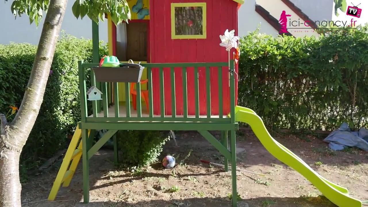 Montage Cabane De Jardin Pour Enfants Peinte Et Aménagée pour Maison De Jardin Pour Enfant