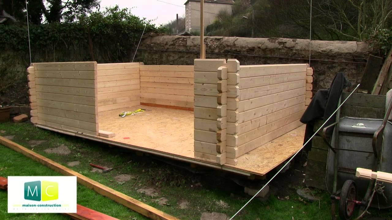 Montage Chalet De Jardin En Bois Madriers encequiconcerne Construire Un Abri De Jardin En Bois Soi Meme