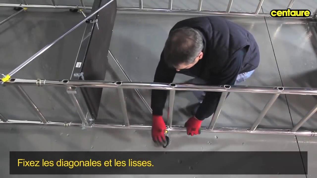Montage De L'échafaudage Speedup Xl De Centaure concernant Echafaudage De Jardin