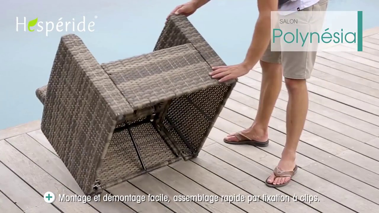 Montage Salon Polynésia pour Table Jardin Hesperide