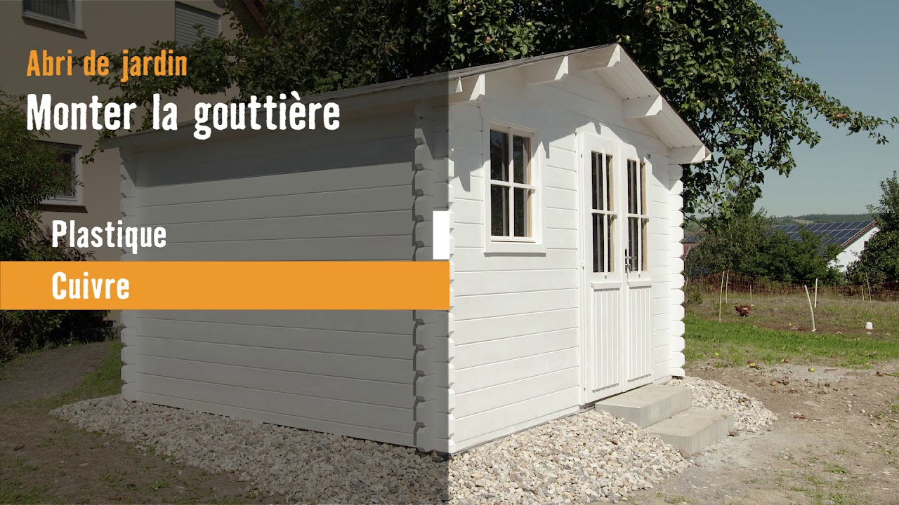 Monter Une Gouttière   Hornbach Suisse tout Faire Un Abris De Jardin