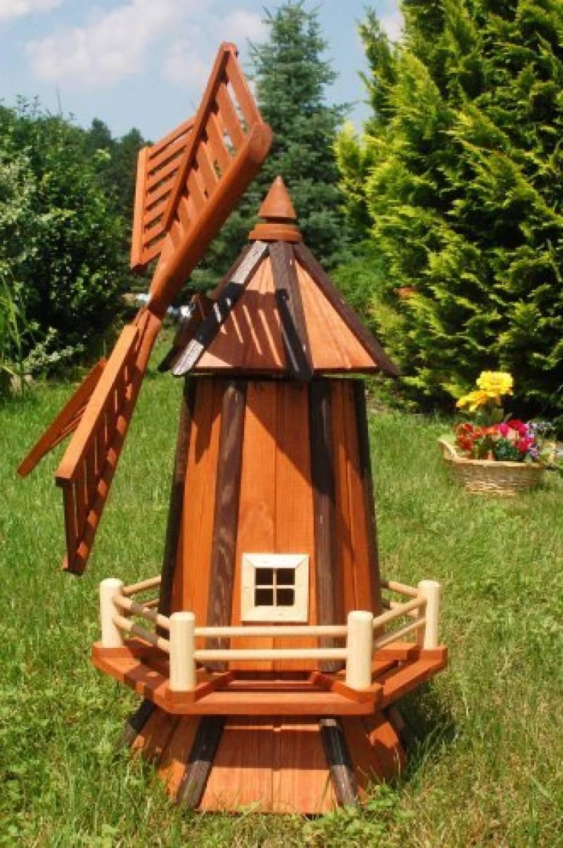 Moulin À Vent Déco De Jardin Sur Pied En Métal Laqué Brun ... serapportantà Moulin A Vent Jardin