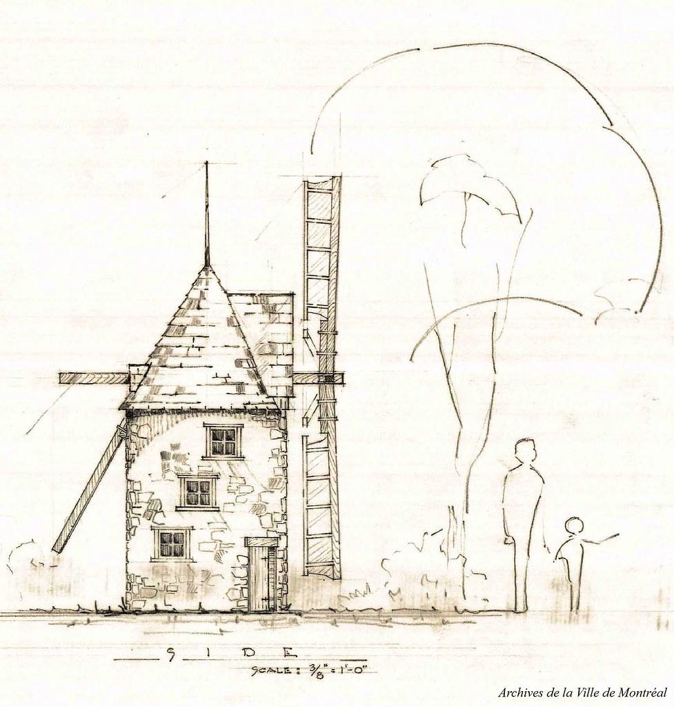 Moulin À Vent, Jardin Des Merveilles. 27 Février 1957. Vm1 ... concernant Moulin À Vent De Jardin