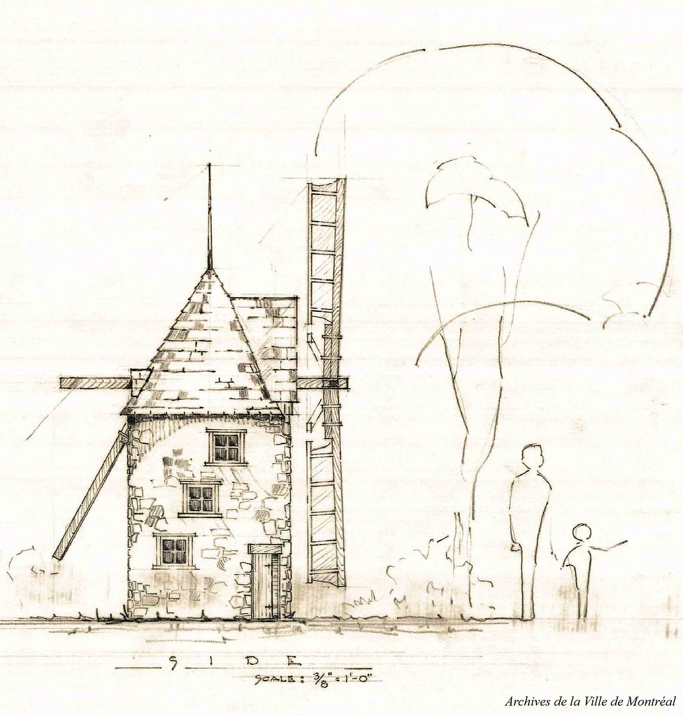 Moulin À Vent, Jardin Des Merveilles. 27 Février 1957. Vm1 ... tout Moulin A Vent Jardin